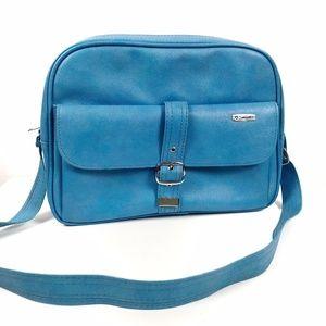 Vintage Blue Samsonite Travel Bag